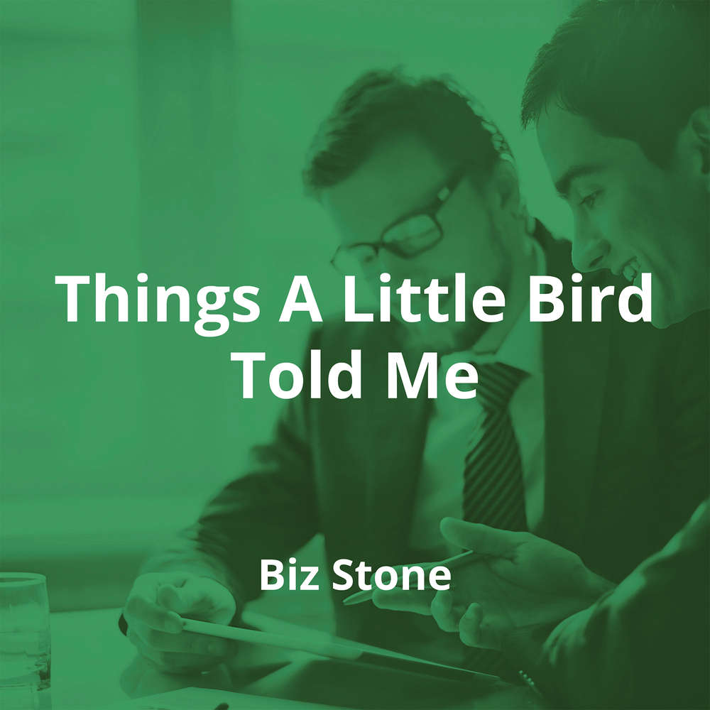 Things A Little Bird Told Me by Biz Stone - Summary