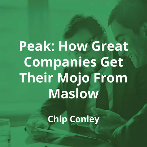 Peak: How Great Companies Get Their Mojo From Maslow by Chip Conley - Summary